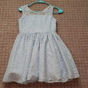 Girls dress baby blue size 10